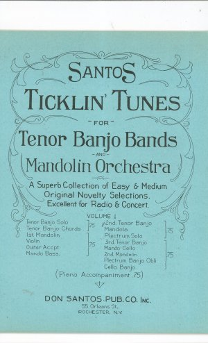 Santos Ticklin Tunes For Tenor Banjo Bands &amp; Mandolin Orchestra Volume 1 Vintage