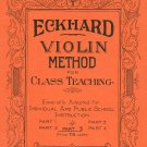 Eckhard Violin Method For Class Teaching Book 5 Vintage Santos Publishing