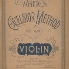 White's Excelsior Method For The Violin Music Book Vintage