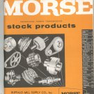 Morse Mechanical Power Transmission Stock Products Catalog SP-58 Vintage