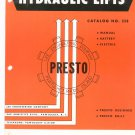 Hydraulic Lifts Lee Engineering Company Presto With Price List Catalog 358 Vintage