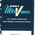 Wood's Ultra V Drives Catalog / Bulletin Vintage 1959
