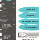 Wood's Power Transmission Equipment Catalog / Bulletin Vintage 1959