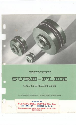 Wood's Sure Flex Couplings Catalog Vintage