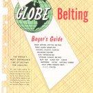 Globe Belting Buyer's Guide Catalog Vintage 1958