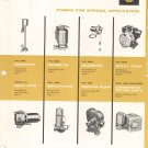 Lot Of 2 Goulds Pumps  Catalog Vintage 1956