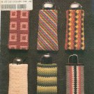 Eyeglass Cases Cross Stitch Leisure Arts Leaflet 112 Vintage