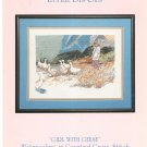 Daw na Barton's La Fille Des Oies Girl With Geese Watercolors In Counted Cross Stitch