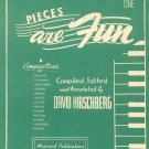 Pieces Are Fun Book One by David Hirschberg Piano Music Vintage Musicord Publications
