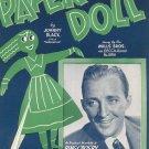 Paper Doll Sheet Music Vintage Edward B. Marks Music Corporation