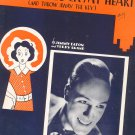I'M Gonna Lock My Heart And Throw Away The Key Sheet Music Vintage Shapiro Bernstein & Co.