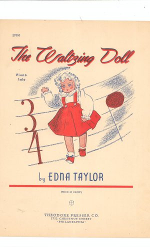 The Waltzing Doll Sheet Music Vintage Theodore Presser Co.