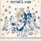 Gesu Bambino by Peitro A Yon Sheet Music Vintage J. Fischer & Bro.