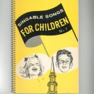Singable Songs For Children Number 2 Vintage 1962