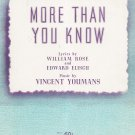 More Than You Know Vintage Sheet Music Miller Music Corp.