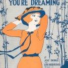 Wake Up Little Girl You're Dreaming Vintage Sheet Music Leo Feist Inc.