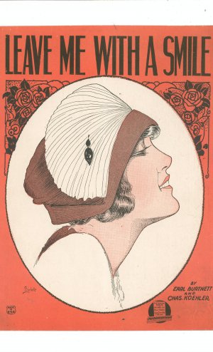 Leave Me With A Smile Vintage Sheet Music Waterson Berlin & Snyder Co.