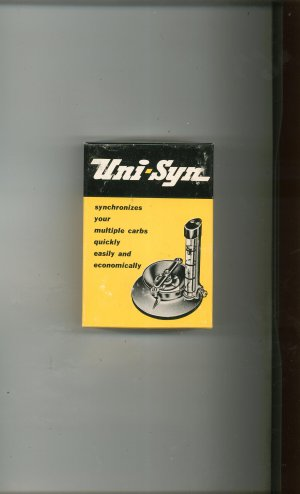 Uni Syn Multiple Carburetor Synchronizer Model A With Box Vintage Edelbrock Equip. Co.
