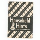 Vintage Household Hints 205 Other Tricks & Tips Heckers Superlative Flour