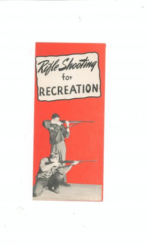 Vintage Rifle Shooting For Recreation Brochure By Sportsmen's Service Bureau