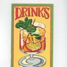 Drinks Cookbook by Irena Chalmers Vintage 1977