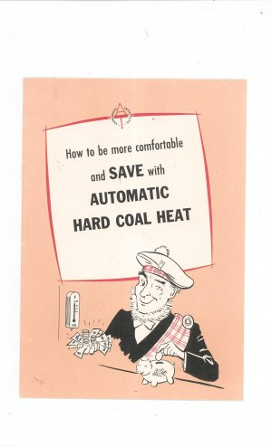 Vintage Anthracite Automatic Hard Coal Heat Catalog