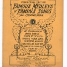 Famous Medleys Of Famous Songs For Orchestra Perfection Edition 1st Violin Vintage