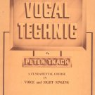 Vocal Technic by Peter Tkach Teacher's Manual Music Book