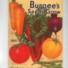 Vintage Burpee's Seeds Grow Catalog 1945 With Order Form