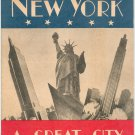Vintage New York A Great City Illustrated 1947 Nester House Publications