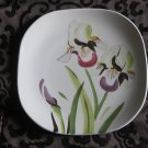 Red Wing Pottery Dinner Plate Iris Pattern Hand Painted Very Nice