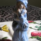 Lady Dressed In Blue Figurine Marked Made In Occupied Japan