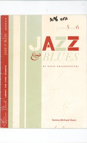 Jazz & Blues Books 5 and 6 by David Kraehenbuehl 0878471131