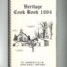 Heritage Cookbook 1984 Regional Church St. Andrew's U.C.W. Long Sault, Ontario
