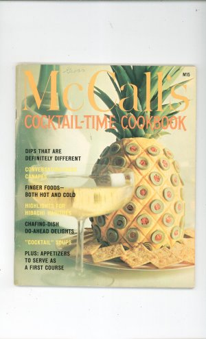 Vintage McCall's Cocktail Time Cookbook  M15 Vintage