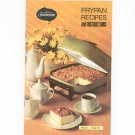 Sunbeam Frypan Recipes Cookbook Manual Vintage 1976