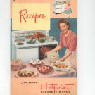 Recipes For Your Hotpoint Electric Range Cookbook Vintage