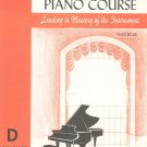 John W Schaum Piano Course D The Orange Book Vintage Belwin Mills