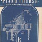 John W Schaum Piano Course B The Blue Book Vintage Belwin Mills