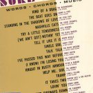 Sure Shots All  Organ Music Book Words Chords Music Vintage Robbins Corporation