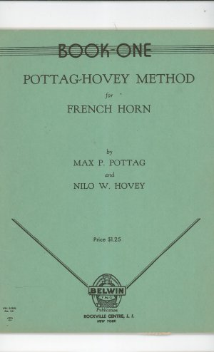Pottag Hovey Method  For French Horn Book One Music Vintage Belwin