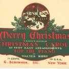 Merry Christmas A Bakers Dozen Christmas Carols by Walter Kirby Vintage Schirmer Piano