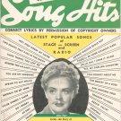 Song Hits Lyric Magazine Vintage June 1941