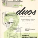 Let's Play Duos Music For Two Organs Porter Heaps Music Series Number 3