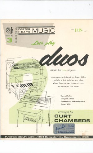 Let&#039;s Play Duos Music For Two Organs Porter Heaps Music Series Number 3
