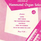 David Coleman Collection Of Hammond Organ Solos Book Number 1 Robbins Music Corp.