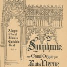 Symphonie Pour Grand Orgue Par Op. 20 Louis Vierne Vintage 1903 Organ Music
