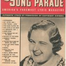 Song Parade Lyric Magazine Vintage July 1941