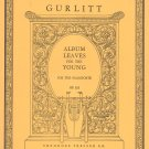 Presser Collection Gurlitt Album Leaves For Young Op. 101 Piano Vintage