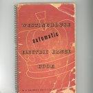 Westinghouse Automatic Electric Range Cookbook Vintage